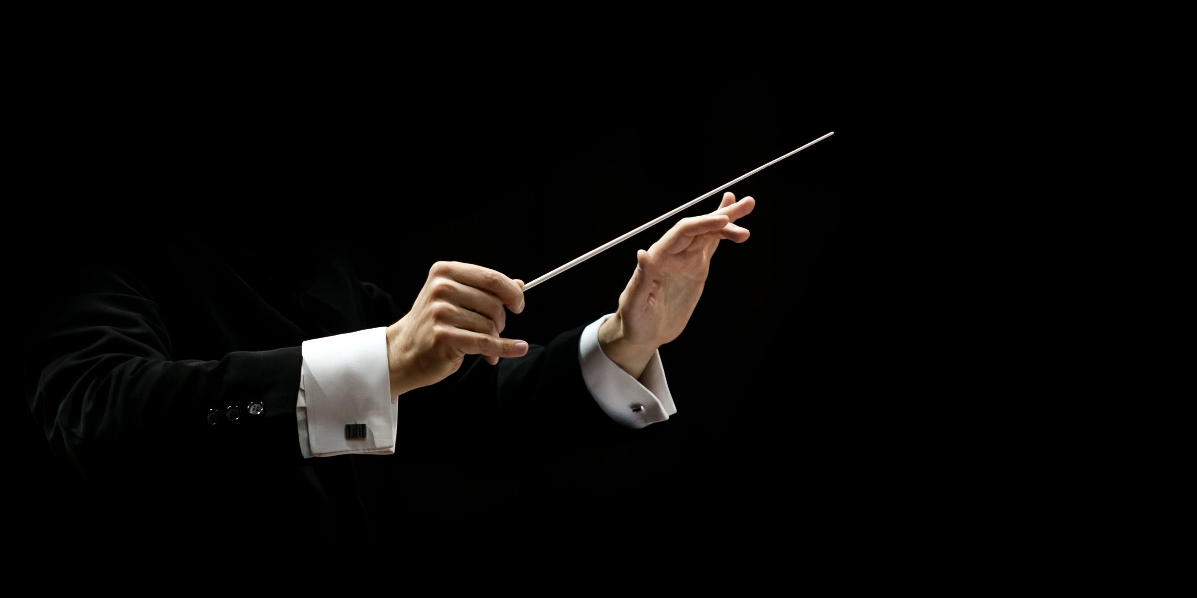 Hände eines Dirigenten