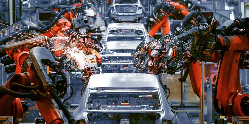 Produktionslinie für Automobile