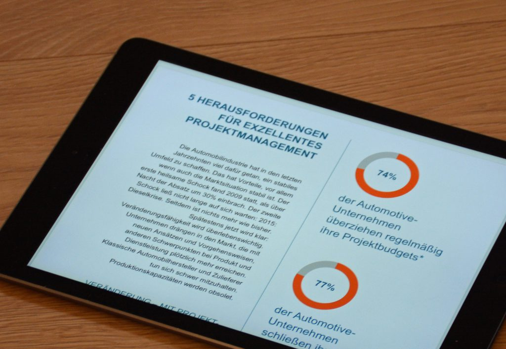 White-Paper Projektmanagement-Eine Schluesselkompetenz fuer Autozulieferer auf ipad