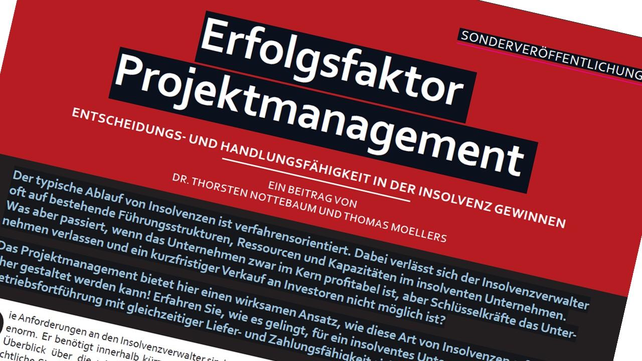 Erfolgsfaktor Projektmanagement in der Insolvenz